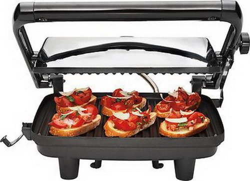Hamilton Beach - Panini Press Gourmet Sandwich Maker - Chrome/black