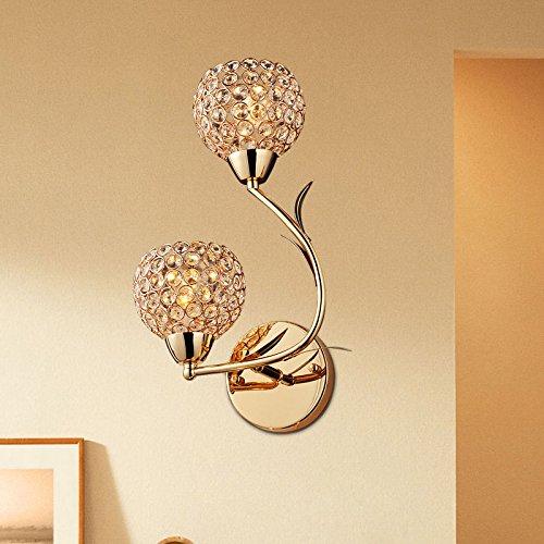 Minimaliste goujon Creative Arts Miroir mur cristal lampe frontale chambre lampe de chevet