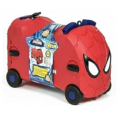Marvel Spiderman Vrum Ride On Toy Kids Suitcase Trolley Gift Case Pull Along New