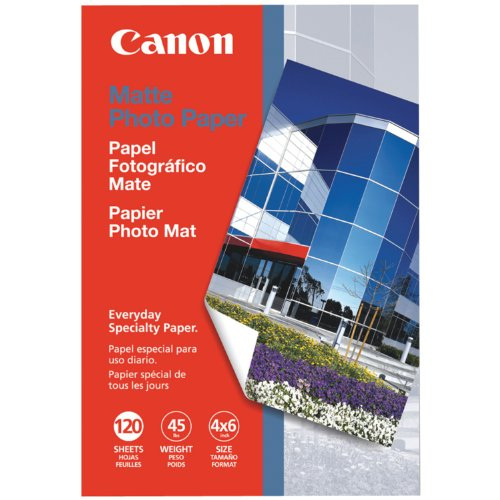Canon Photo Paper Matte, 4 x 6 Inches, 120 Sheets (7981A014) (Graphic Display Systems compare prices)