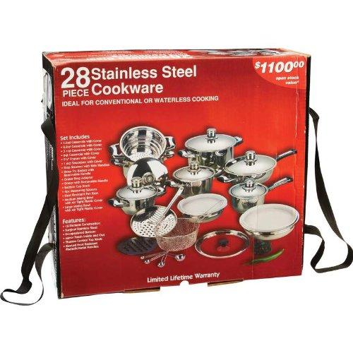 28pc 12 element high quality heavy gauge stainless steel for Kitchen set node attributes