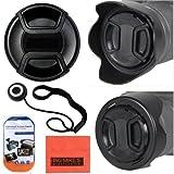 58mm Digital Tulip Flower Lens Hood + Lens Cap For Canon Digital EOS Rebel SL1, T1i, T2i, T3, T3i, T4i, T5, T5i, XSI, XS, XTI, EOS60D, EOS70D, 50D, 40D, 30D, EOS 5D, , EOS5D Mark 2, EOS6D, EOS7D, EOS M Digital SLR Cameras Which Has Any Of These (18-55mm,