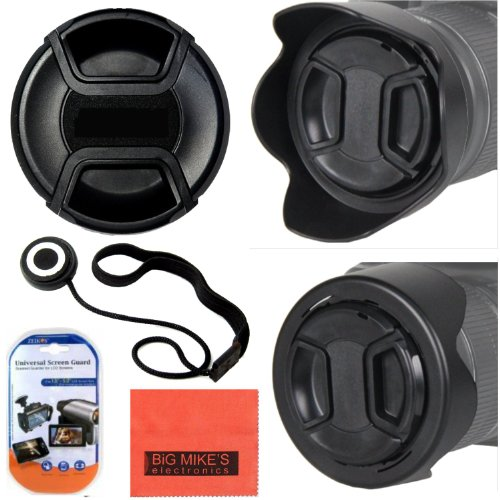 77Mm Reversible Digital Tulip Flower Lens Hood + 77Mm Lens Cap For Canon Digital Eos Rebel Sl1, T1I, T2I, T3, T3I, T4I, T5, T5I, Xsi, Xs, Xti, Eos60D, Eos70D, 50D, 40D, 30D, Eos 5D, Eos5D Mark 2, Eos6D, Eos7D, Eos M Digital Slr Cameras Which Has Any Of Th
