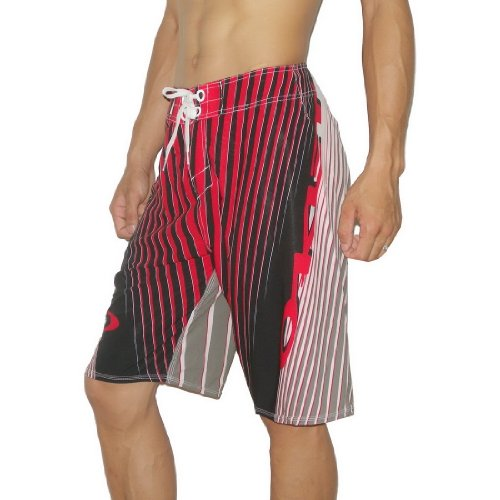 Oakley Mens REVERB Skate & Surf Boardshorts Board Shorts - Red (Size: 38)