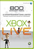 echange, troc Xbox Live 800 Microsoft points