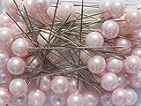 Perlen-Nadeln Deko-Nadeln Perle ROSA 6mm 100 Stück ACHTUNG!...