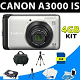 Canon Powershot A3000 A-3000 Is Digital Camera + 4gb Deluxe Kit