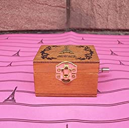 YONG Retro wooden music box creative ornaments