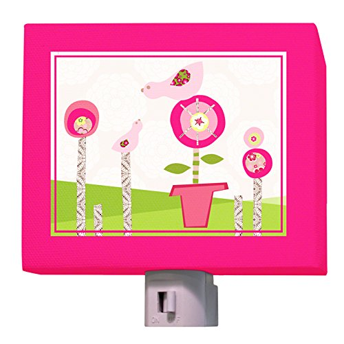 "Oopsy Daisy Afternoon Gossip Night Light, Pink, 5"" X 4"""
