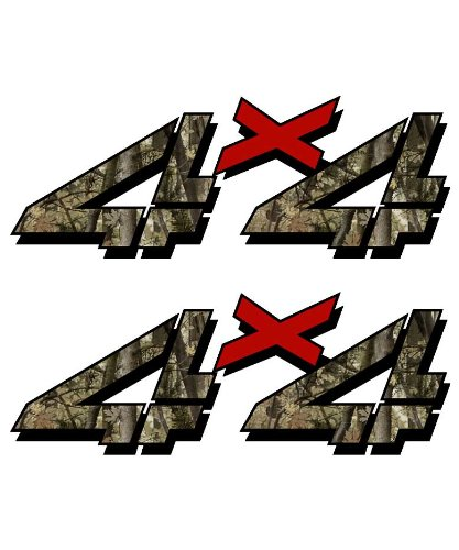 4x4 sticker set for Chevy, GMC, Sierra, Silverado Truck shocker camouflage hunting camo decal (Camo Truck Accessories Gmc compare prices)