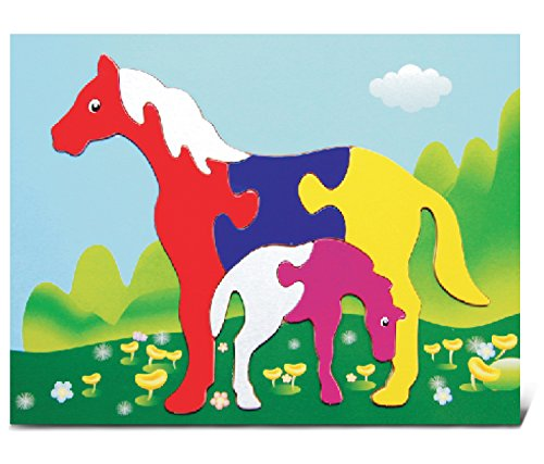 Puzzled Horses Wooden Fun Puzzle