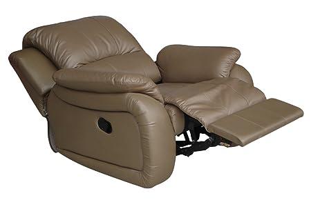 Voll-Leder Sofa Schlaf Sessel Relaxsessel Fernsehsessel 5129-1-1106