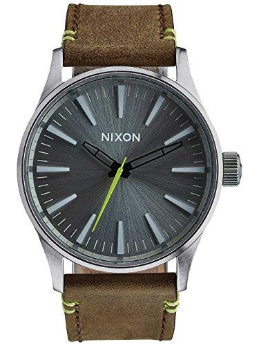 nixon-unisex-armbanduhr-analog-quarz-leder-a3772290