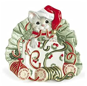 Fitz and floyd kitty kringle canape plate for Fitz and floyd canape plate