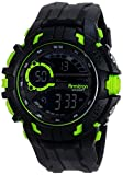 Armitron Sport Mens 40/8335LGN Lime Green Accented Digital Chronograph Black Resin Strap Watch