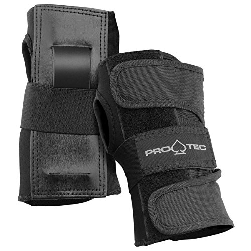 PROTEC Original Street Gear Skate and Bike Wrist Guards, Set of 2, Black, Small