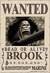 Amazon.com: One Piece Poster full color Ver. Brook WANTED POSTER 2011