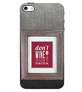 PrintDhaba QUOTE D-6942 Back Case Cover for APPLE IPHONE 4 (Multi-Coloured)