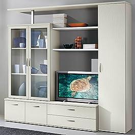 Set Soggiorno colonna + vetrina libreria arredamento design casa mobile S6052BF