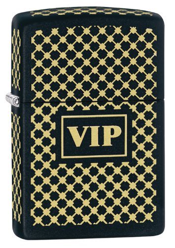 Zippo Vip Windproof Lighter, Matte Black