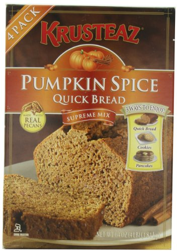 Pumpkin Spice Bread Quick Bread - Krusteaz Quick Bread Supreme Mix, NET WEIGHT 64 oz. (FOUR 1 lb MIX PACK) (Quick Breads compare prices)
