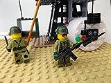 Modbrix 2331- ★ US ARMY VIETNAM Hubschrauber Basis mit OH-6 Cayuse Hubschrauber und custom US MARINES Soldaten aus original Lego© Teilen ★ - 2