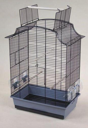 Vogelkäfig Tweety, grau/schwarz, 60x40x65 cm