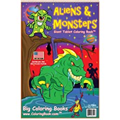 Aliens & Monsters Coloring Book (13x19) Spiral-bound