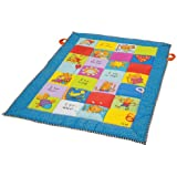 Taf Toys I Love Big Mat Activity Play Mat With Baby Safe Mirror, Plastc Rings, Teether And Crinkling
