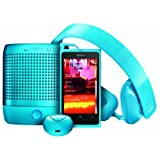Nokia Lumia 800 Unlocked Phone With - Purity HD Headset by Monster & Nokia Play 360 Portable Wireless Speaker & Nokia Luna Bluetooth Headset (Cyan)