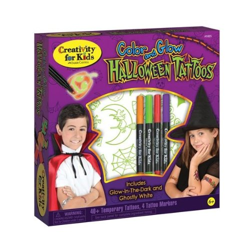 Faber-Castell - Color and Glow Halloween Tattoos - Premium Kids Crafts - 1