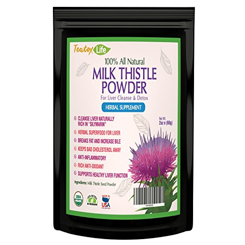 Milk Thistle for Liver detox cleanse and liver rescue support without pills - 60 grams - 2 unit bundle| USDA Certified| Made in USA (Milk Powder Made In Usa compare prices)