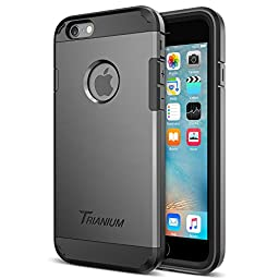 iPhone 6s Case, Trianium [Duranium Series] Ultra Protective Case with Built-in Screen Protector for Apple iPhone 6 6S [Gunmetal Gray] Shock-Absorbing Hard Cover Cases [Lifetime Warranty]