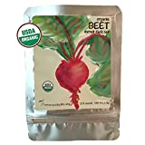 Heirloom USDA Organic Seeds (Scoby Life Brand) 500+ Beet Seeds -Detroit Dark Red Beets- Vegetable Non GMO Open-Pollinated and Packet is Weather-Resistant Row Marker Garden Gift Art Beetroot Beet Root