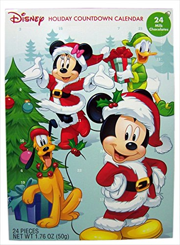 2016 Christmas Advent Holiday Countdown Calendar with 24 Milk Chocolates (Disney Mickey Mouse and Friends) (Candy Stocking Stuffers For Kids compare prices)