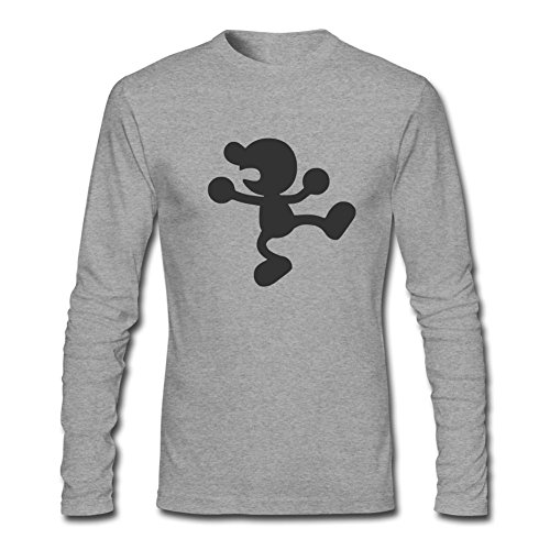 XUEQING Men's Super Smash Bros Brawl Mr. Game&Watch Long Sleeve T-shirt L ColorName