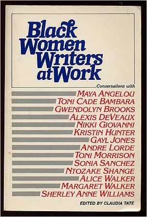 Black Women Writers at Work (Black Women Writers at Work, Paper)