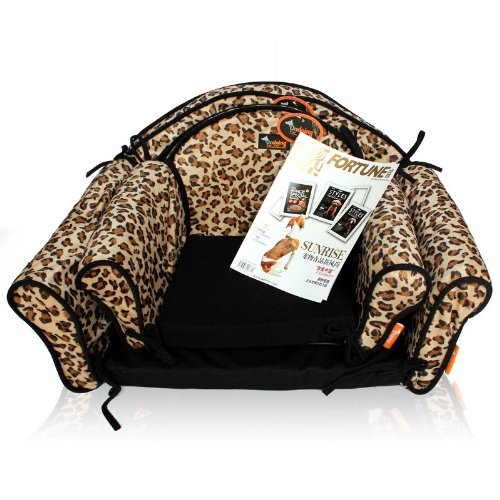 Leopard Print Comfortable Sofa Design Soft Warm Dog Beds Pet Sofa Kennels Couch Small front-416346