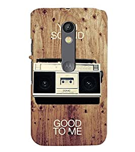 printtech Radio music Back Case Cover for Motoroal Moto X Play