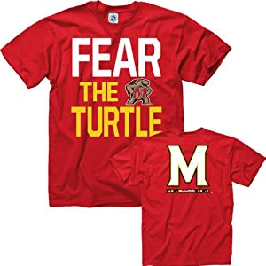Maryland Terrapins Red Fear the Turtle T-Shirt