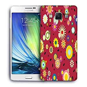 Snoogg White Leaves Black Printed Protective Phone Back Case Cover For Samsung Galaxy A7
