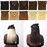S-NOILITE New Fashion Long Straight Curly Wavy Womens girls 8 PCS 17
