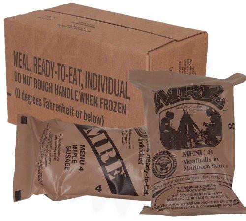 MREs (Meals Ready-to-Eat) Box B, Genuine U.S. Military