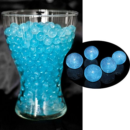 Bit Fly 100g Luxury Glittered Water Aqua Soil Bio Crystal Gel Ball Beads Wedding Table Decor Jelly Balls Water Pearls Vase Filler (Light Blue) (Light Blue Water Pearls compare prices)