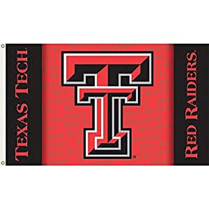 NCAA Texas Tech Red Raiders 3-by-5 Foot Flag TT with Shadow with Grommets