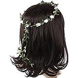 Sanwood Lady Girl Boho Floral Flower Festival Wedding Garland Forehead Hair Head Band 8 Colors