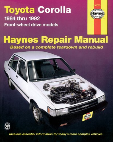 Toyota Corolla 1984 Thru 1992 Front-Wheel Drive Models (Haynes Automotive Repair Manual) front-565902