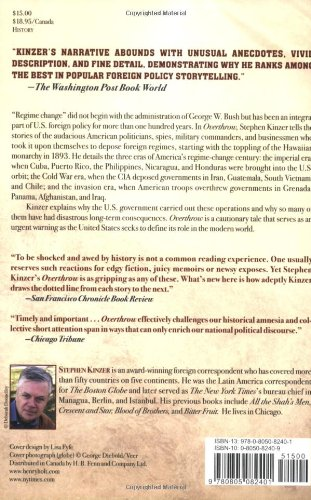 an analysis of the book overthrow by stephen kinzer America's century of regime change from hawaii to in overthrow the author stephen kinzer tells how stephen kinzer book review and critical analysis.