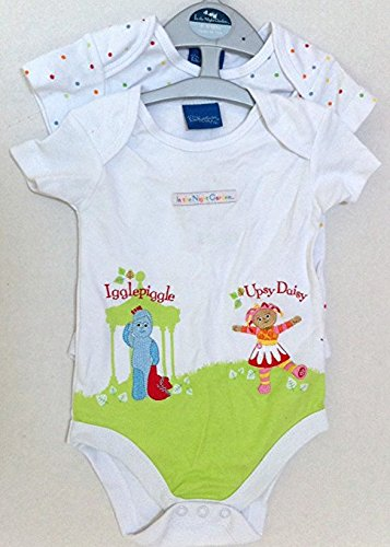 In the Night Garden Iggle Piggle Upsy Daisy 0-3 Months Baby Boy Girl 2 Rompers onesies