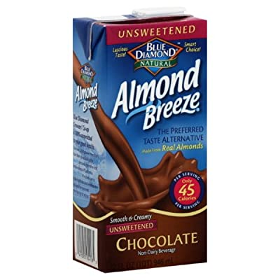 Blue Diamond Breeze Unsweetened Chocolate, 32-ounces (Pack of6) from Blue Diamond